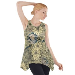 Abstract Art Artistic Botanical Side Drop Tank Tunic