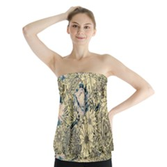 Abstract Art Artistic Botanical Strapless Top