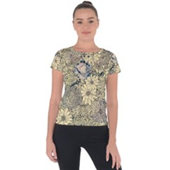 Abstract Art Artistic Botanical Short Sleeve Sports Top