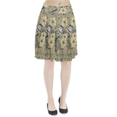 Abstract Art Artistic Botanical Pleated Skirt