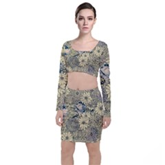 Abstract Art Artistic Botanical Top And Skirt Sets