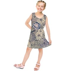 Abstract Art Artistic Botanical Kids  Tunic Dress