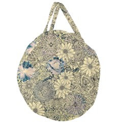 Abstract Art Artistic Botanical Giant Round Zipper Tote