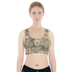 Abstract Art Artistic Botanical Sports Bra With Pocket