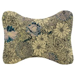 Abstract Art Artistic Botanical Velour Seat Head Rest Cushion