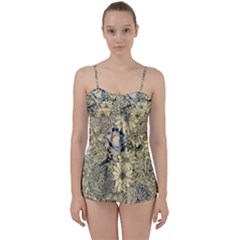Abstract Art Artistic Botanical Babydoll Tankini Set