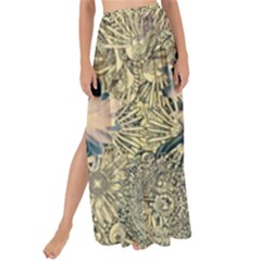 Abstract Art Artistic Botanical Maxi Chiffon Tie Up Sarong