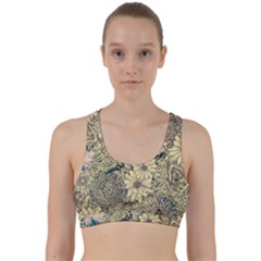 Abstract Art Artistic Botanical Back Weave Sports Bra