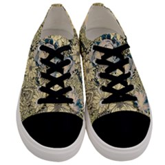 Abstract Art Artistic Botanical Men s Low Top Canvas Sneakers