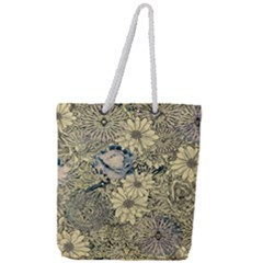 Abstract Art Artistic Botanical Full Print Rope Handle Tote (large)