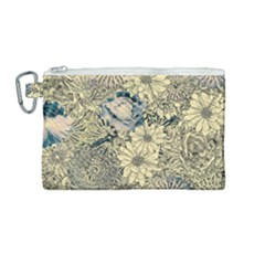 Abstract Art Artistic Botanical Canvas Cosmetic Bag (medium)
