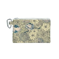 Abstract Art Artistic Botanical Canvas Cosmetic Bag (small)
