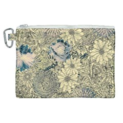 Abstract Art Artistic Botanical Canvas Cosmetic Bag (xl)