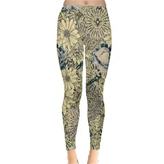 Abstract Art Artistic Botanical Inside Out Leggings