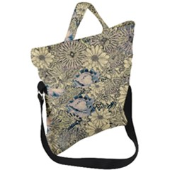 Abstract Art Artistic Botanical Fold Over Handle Tote Bag