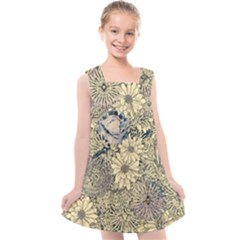 Abstract Art Artistic Botanical Kids  Cross Back Dress