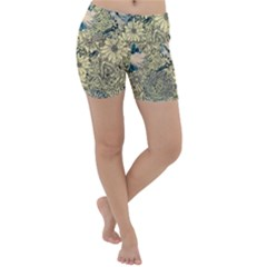 Abstract Art Artistic Botanical Lightweight Velour Yoga Shorts