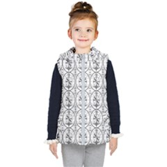 Test Pattern Kid s Hooded Puffer Vest