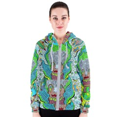 Cosmic Planet Angel Women s Zipper Hoodie