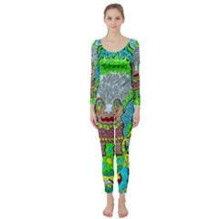 Cosmic Planet Angel Long Sleeve Catsuit by chellerayartisans