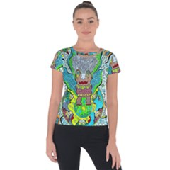 Cosmic Planet Angel Short Sleeve Sports Top