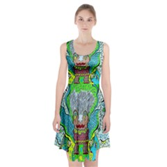 Cosmic Planet Angel Racerback Midi Dress