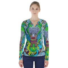 Cosmic Planet Angel V-neck Long Sleeve Top