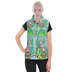 Cosmic Planet Angel Women s Button Up Vest