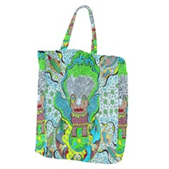 Cosmic Planet Angel Giant Grocery Tote by chellerayartisans
