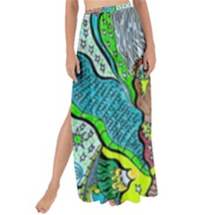 Cosmic Planet Angel Maxi Chiffon Tie-up Sarong