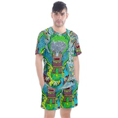Cosmic Planet Angel Men s Mesh Tee And Shorts Set