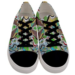 Cosmic Pyramid Men s Low Top Canvas Sneakers
