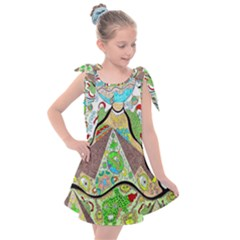 Cosmic Pyramid Kids  Tie Up Tunic Dress