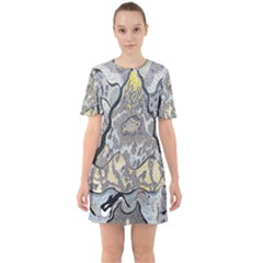 Supersonic Spaceships Sixties Short Sleeve Mini Dress