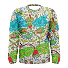 Cosmic Dragonflies Men s Long Sleeve Tee