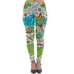 Cosmic Dragonflies Lightweight Velour Leggings