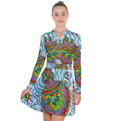 Supersonic Squid Long Sleeve Panel Dress by chellerayartisans