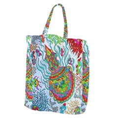 Supersonic Squid Giant Grocery Tote by chellerayartisans