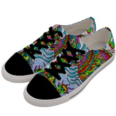 Supersonic Squid Men s Low Top Canvas Sneakers by chellerayartisans