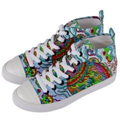 Supersonic Squid Women s Mid Top Canvas Sneakers by chellerayartisans