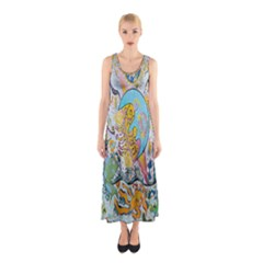 Supersonic Volcanic Moonship Sleeveless Maxi Dress