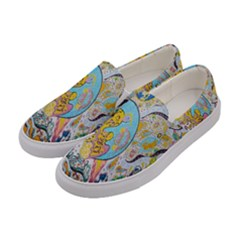 Supersonic Volcanic Moonship Women s Canvas Slip Ons by chellerayartisans