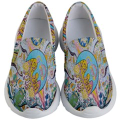 Supersonic Volcanic Moonship Kid s Lightweight Slip Ons