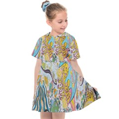 Supersonic Volcanic Moonship Kids  Sailor Dress