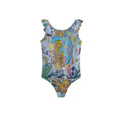 Supersonic Volcanic Moonship Kids  Frill Swimsuit