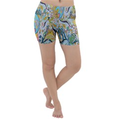 Supersonic Volcanic Moonship Lightweight Velour Yoga Shorts