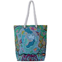 Mystic Mermaid Full Print Rope Handle Tote (small)