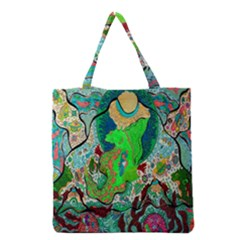 Volcanic Seahorse Grocery Tote Bag