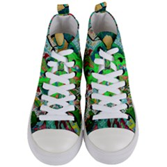 Volcanic Seahorse Women s Mid-top Canvas Sneakers