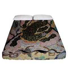 Lizard Volcano Fitted Sheet (california King Size)